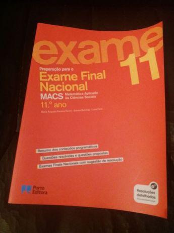 Livro de Preparação para o exame final de MACS - Porto Editora