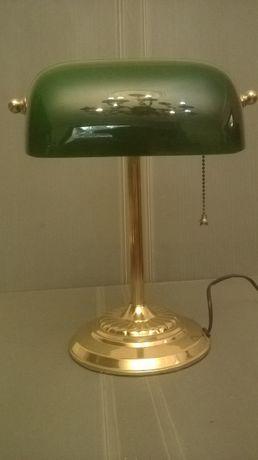 Лампа настольная.Кабинетная.Зеленое стекло.Латунь. Eglo.Австрия