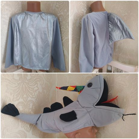 Карнавальный костюм акулы,морская тематика,акула,на 4-7 л