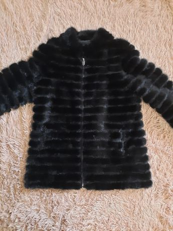 Замшева норкова куртка ( замшевая норковая куртка , шуба ) 46 - 48