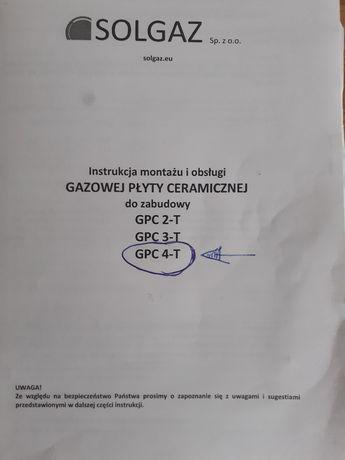 Gazowa płyta ceramiczna SOLGAZ GPC4 -T
