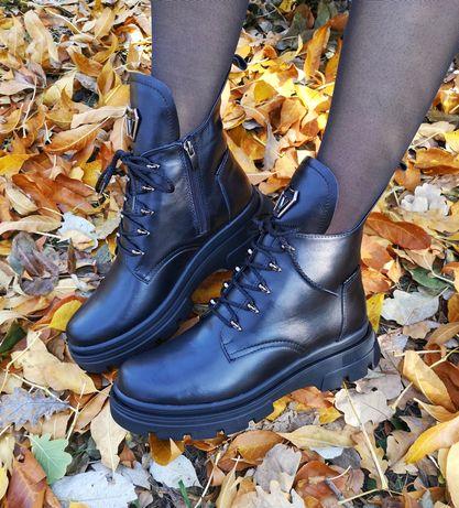 Зимние ботинки на меху из натуральной кожи, от производителя.