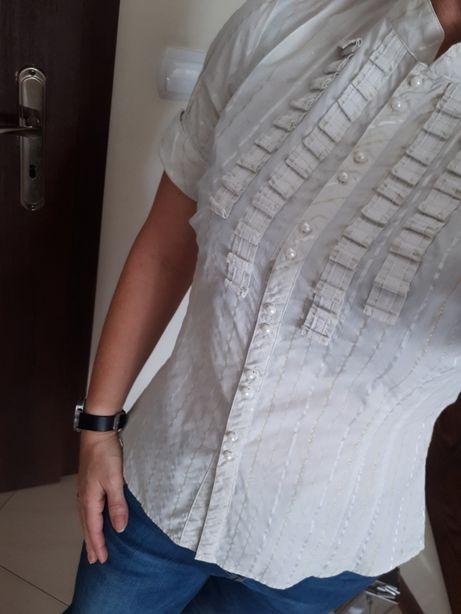 Koszula kremowa Reserved rozm 40, pasuje też na 38