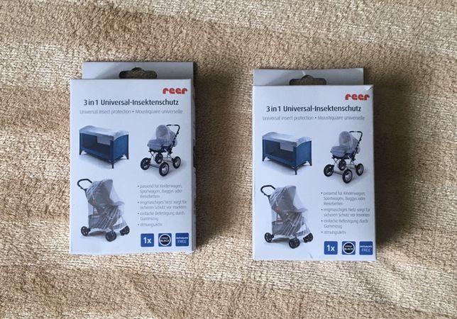 2 moskitiery Reer do wózka i łóżeczka dla bliźniaków