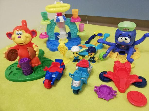 Play doh zestaw kreatywny - lodziarnia małpa ośmiornica i inne