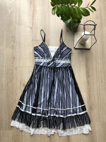 Sukienka koronkowa S czarna