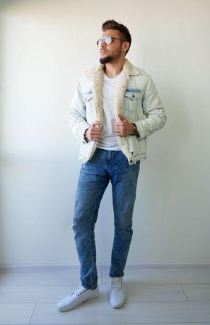 Kurtka Jeansowa ZARA Jeans wiosenna jesienna korzuch korzuszek baranek