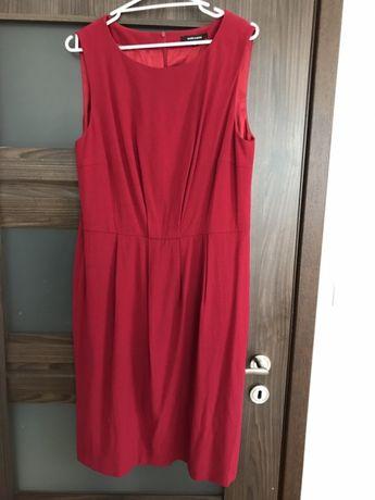 Przepiękna bordowa sukienka 42