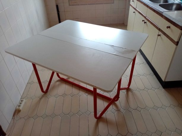 Mesa de Cozinha tampo madeira