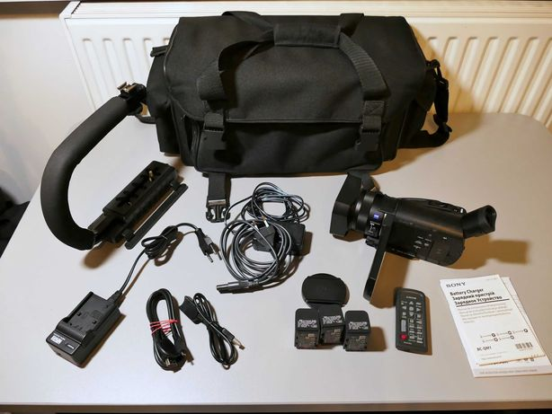kamera 4K Sony AX100E, jak NOWA, dużo dodatków, idealny stan