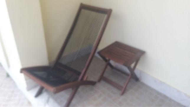 Cadeira e mesa de jardim Ikea