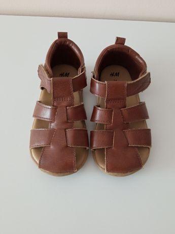 Sandałki brązowe dla chłopca r. 24