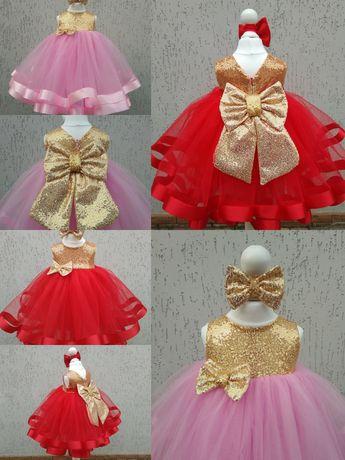 Платье на первый день рождения Платье на годик Пышное платье с фатина