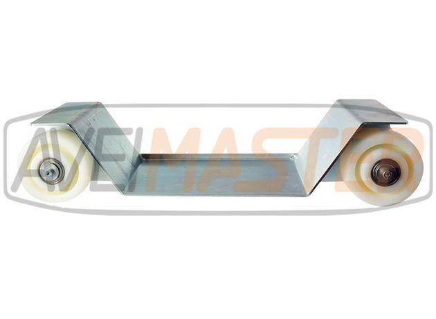 Carro Metalico Zinc c/4 rodas fixas nylon reboque 080200;080202;080204