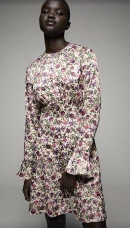 Плаття, платье в цветы Zara kak Mango, Massimo Dutti