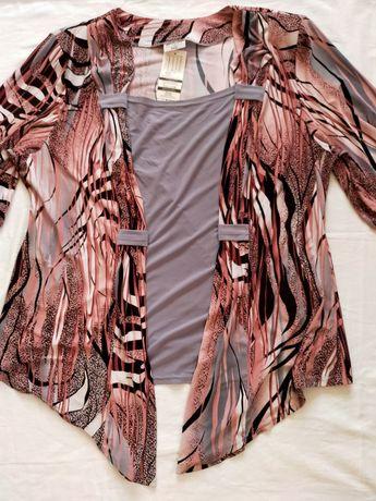 Bluzeczka z asymetria XXXL