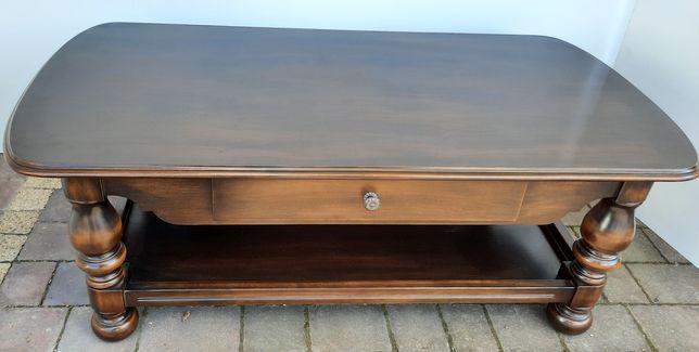 Ława drewniana, solidna, szuflada,