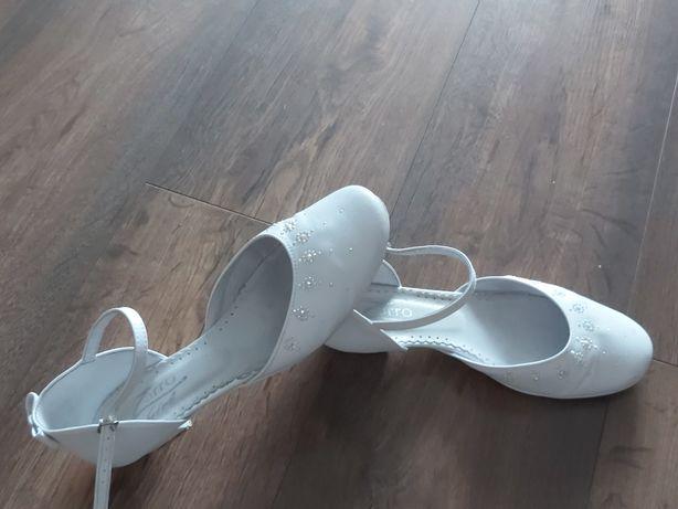 Buty komunijne baleriny skóra 37