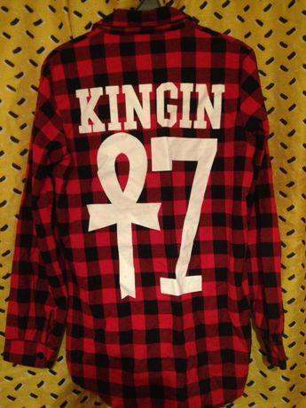 Рубашка Last Kings длинный рукав размер-М (маломерка)