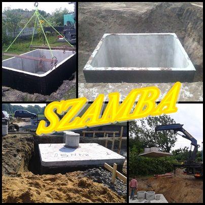Szamba betonowe SZAMBO zbiorniki 6m3 SZYBKO