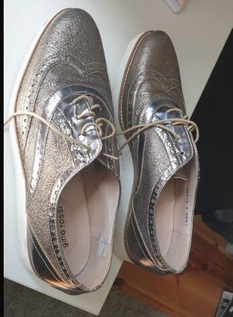 Srebrne buty Gino rossi rozm. 37