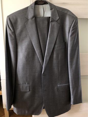 Szary garnitur Lavard 60% wełna, 40% jedwab