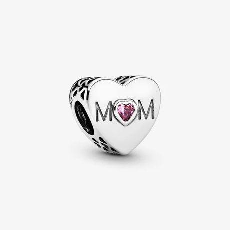 Charms Serce Mama do Pandora Srebro S925
