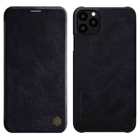 Nillkin Etui Skórzane Qin do iPhone 11 Pro czarny
