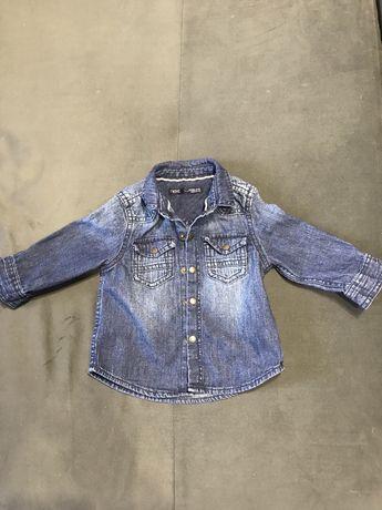 Рубашка next джинсовая
