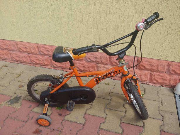 """Велосипед детский Happy 14"""" колёса, доп. колёса на 3-6 лет"""