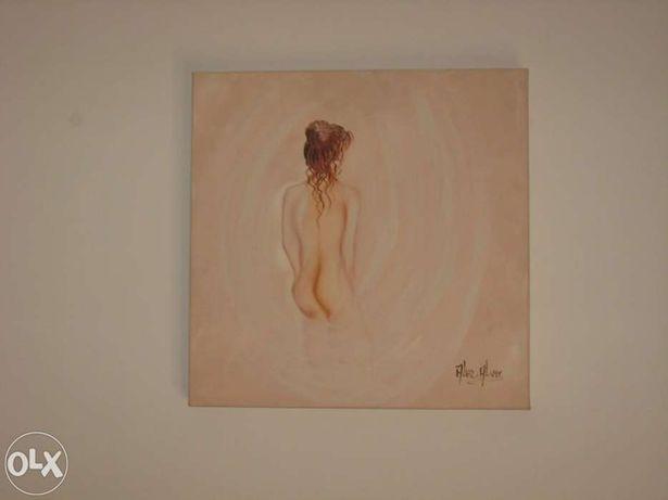 """Quadro pintado à mão - """"Mulher nua"""""""