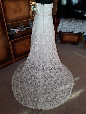 Suknia ślubna ecru koronkowa