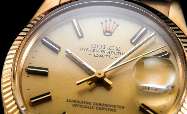 # Złoty Rolex Date Vintage 1981r #