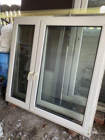 Okno uzywane plastikowe biale