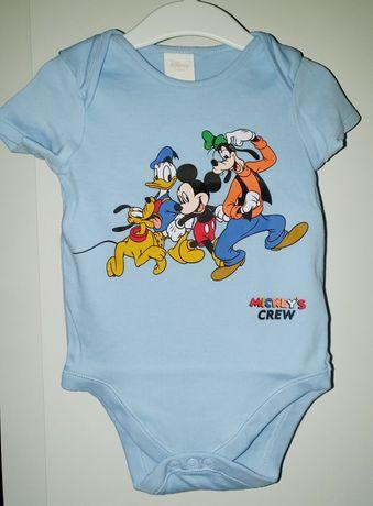 r.86 F&F Disney 12,5kg body krótkie rękaw Myszka Miki Mickey