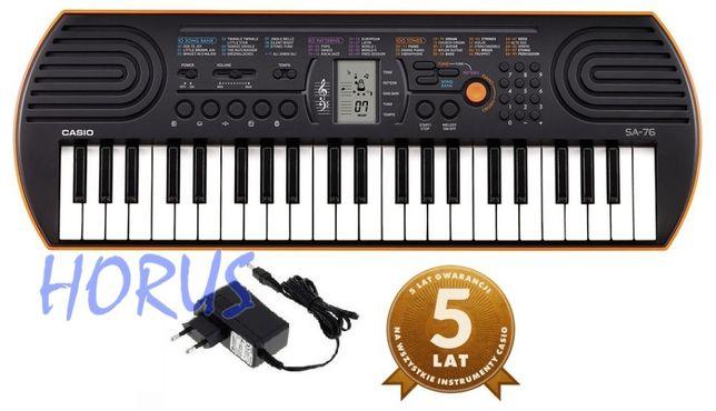 Keyboard Casio SA76 + zasilacz IDEALNY dla DZIECKA, NOWY SKLEP WYSYŁKA