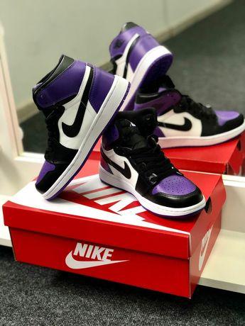 Кроссовки Nike Air Jordan 1 Retro Hight Court Purple Мужские/Женские