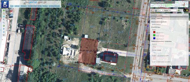 Działka budowlana 529 m² Kock