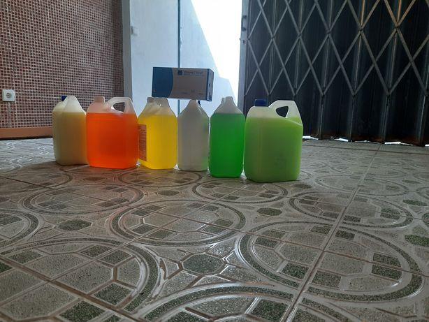 Amaciadores, detergentes, produtos de Higiene e Limpeza Profissional