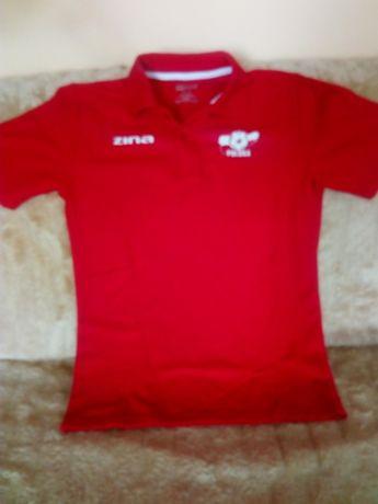 koszulka polo sportowa czerwona zina junior rozmiar XL 158 - 170