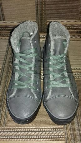 Кеды кроссовки  кожа зима