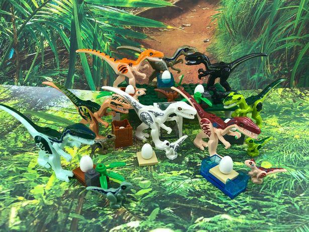 zestaw dinozaury 16 szt + jaja jak Lego Jurassic World NOWE Indoraptor