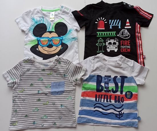 Zestaw 4 sztuk koszulek roz 74 COCCODRILLO i COOL CLUB t-shirt