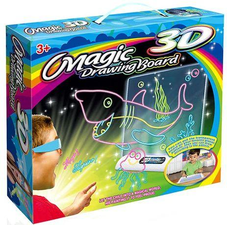 Новинка! Доска-планшет 3Д доска для рисования 3D Magic Drawing Board