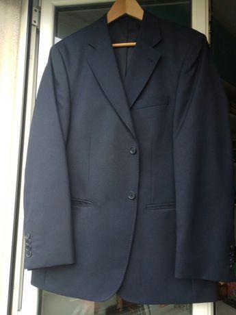 Blazer azul em tecido