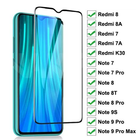 Стекло Xiaomi Redmi 7/8/8A/4/4X/5 Note 9/9S/9Pro/5/6/7/8T/8 Pro Mi8/9