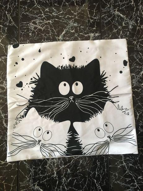 """Capa para almofada """"Gatos amorosos"""""""