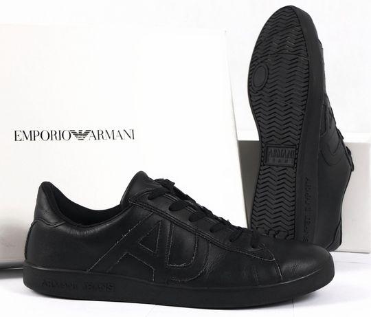 ARMANI JEANS NERO Sneakersy Buty Męskie Skórzane 42