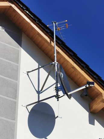 Montaż anten, ustawianie sygnału SAT, DVB-T/T2, kamery, alarmy, serwis