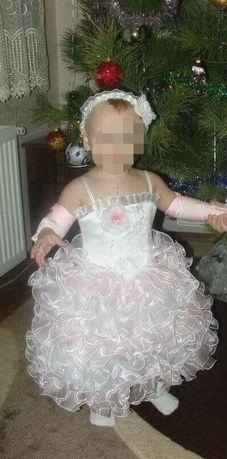 Нарядное платье для девочки на 1-2 годика